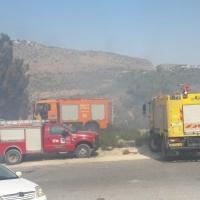 حرائق في الناصرة وشعب وأبو سنان