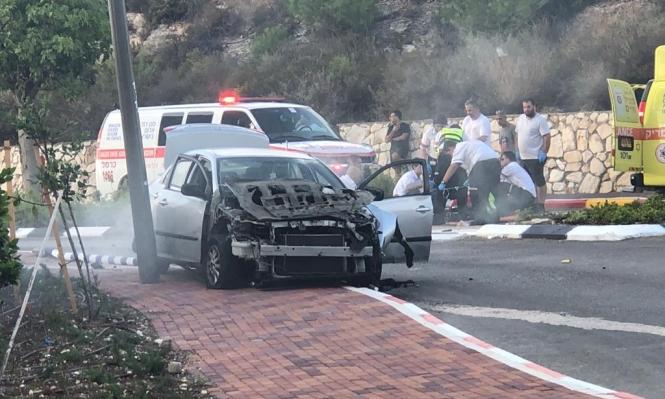 إصابة خطيرة بانفجار سيارة قرب حيفا