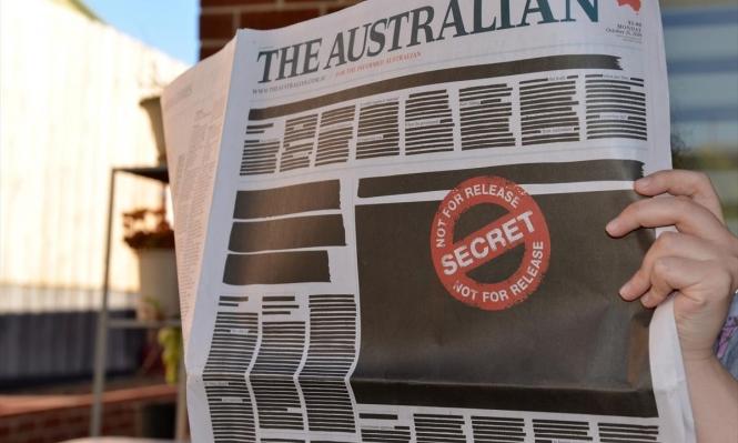الصحف الأسترالية تحتج على تقييد حريتها بتعتيم صفحاتها الأولى