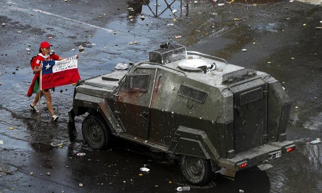 القمع في تشيلي: فتش عن السلاح الإسرائيلي