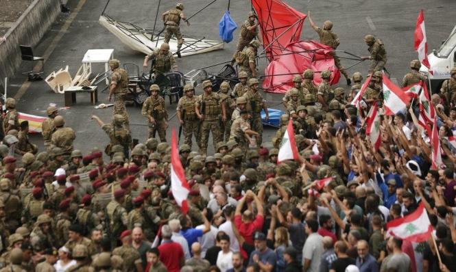 احتجاجات لبنان بعيون إسرائيلية: تقويض الاستقرار سينتج مخاطر
