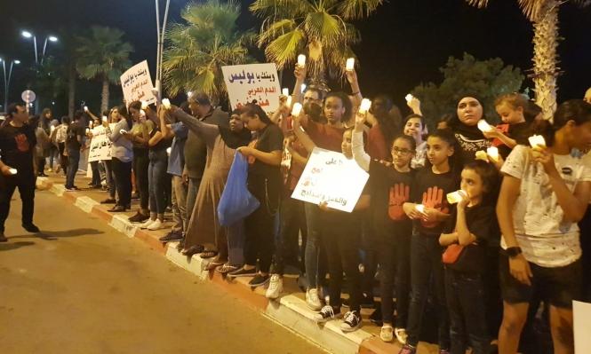 عكا: مسيرة شموع صامتة رفضًا للعنف وتقاعس الشرطة