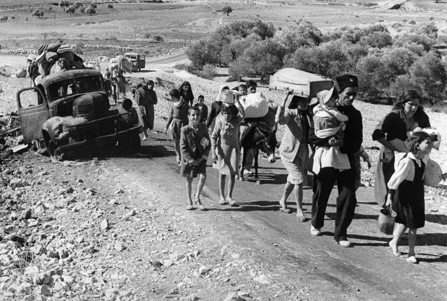 النكبة قضت على تطور المجتمع الفلسطيني الطبيعي (أ ب)