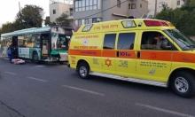 حيفا: إصابة شاب دهسته حافلة