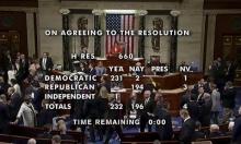 النواب الأميركي يصوت لصالح قرار يسمح ببدء إجراءات عزل ترامب