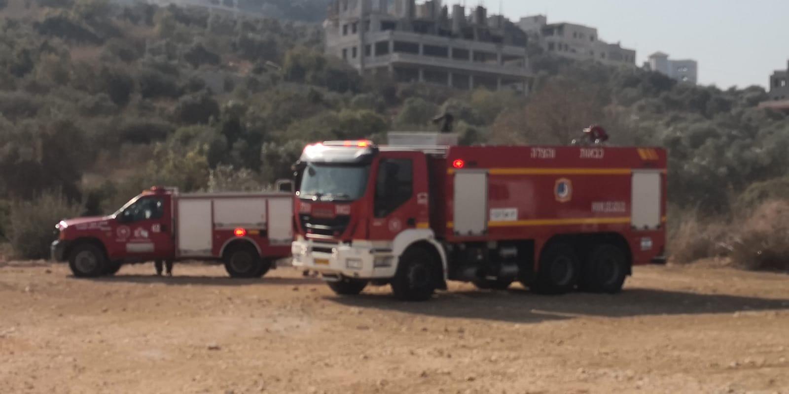 أم الفحم: حريق هائل في واد ملحم وواد الحرامية