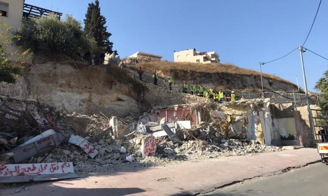 الاحتلال يهدم منزلا بسلوان بداعي البناء غير المرخص