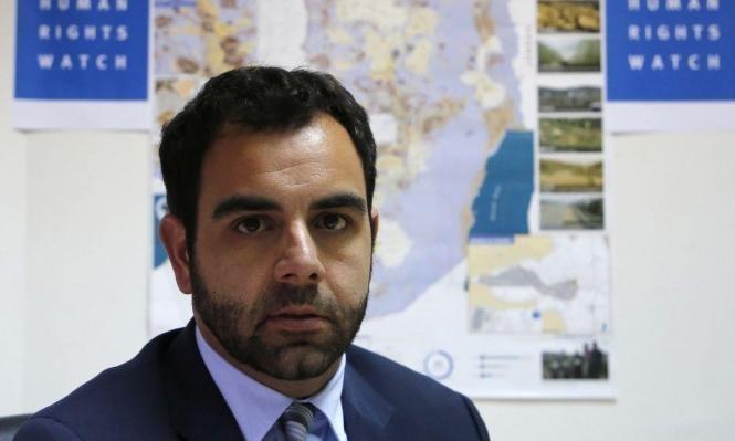 """""""هيومن رايتس ووتش"""" تدين قرار ترحيل عمر شاكر"""