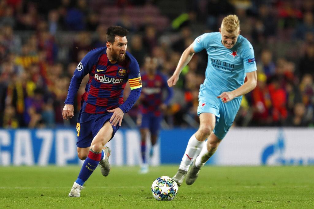 برشلونة يسقط بكمين التعادل أمام سلافيا براغ