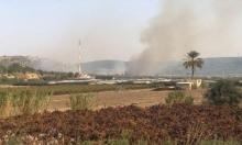 حريق قرب الفريديس وإغلاق شارع 67