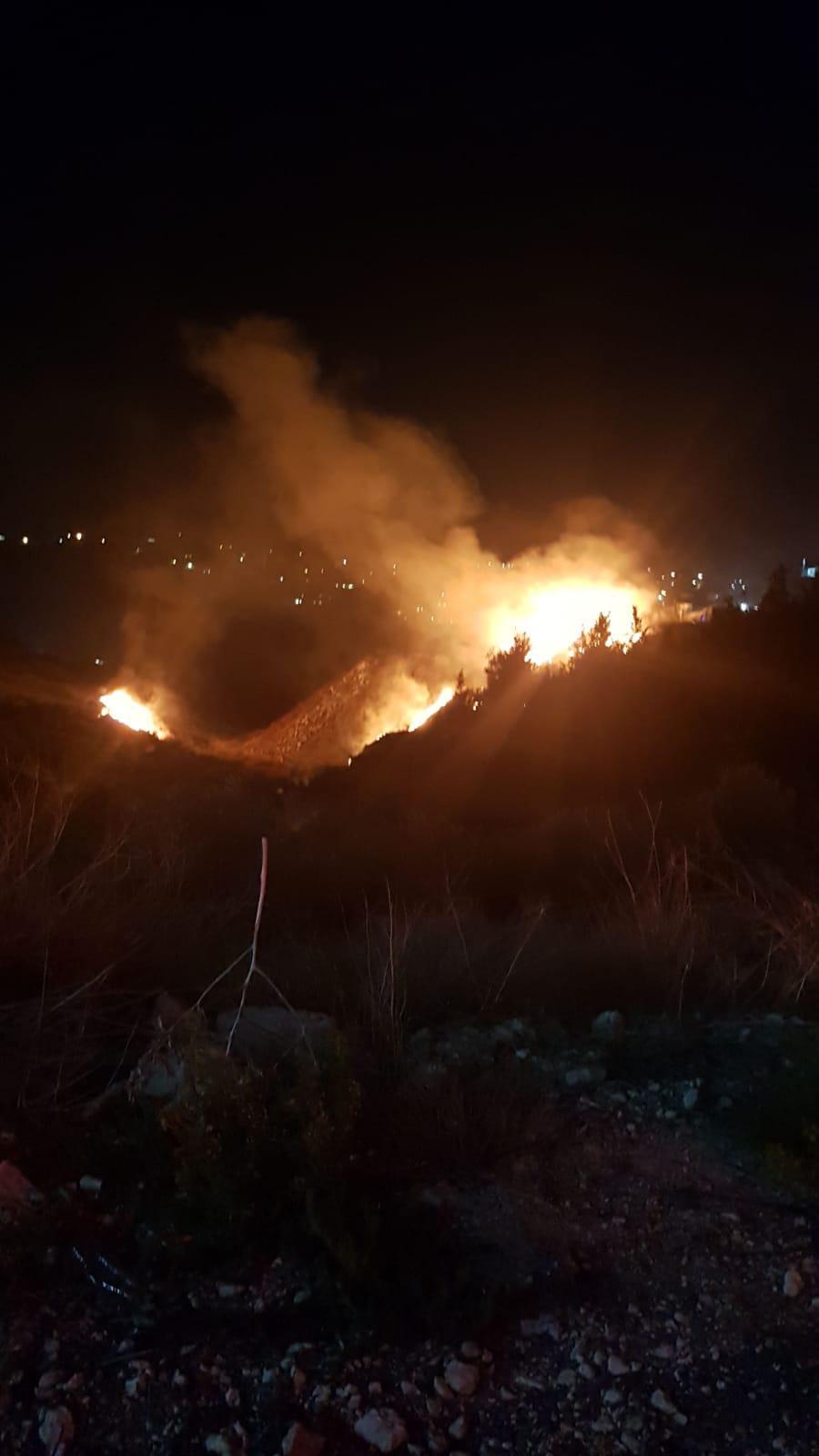 حريقان في منطقة الناصرة