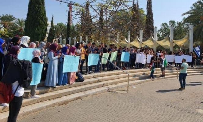 الطلاب العرب في جامعة تل أبيب يتظاهرون نصرة لغزة