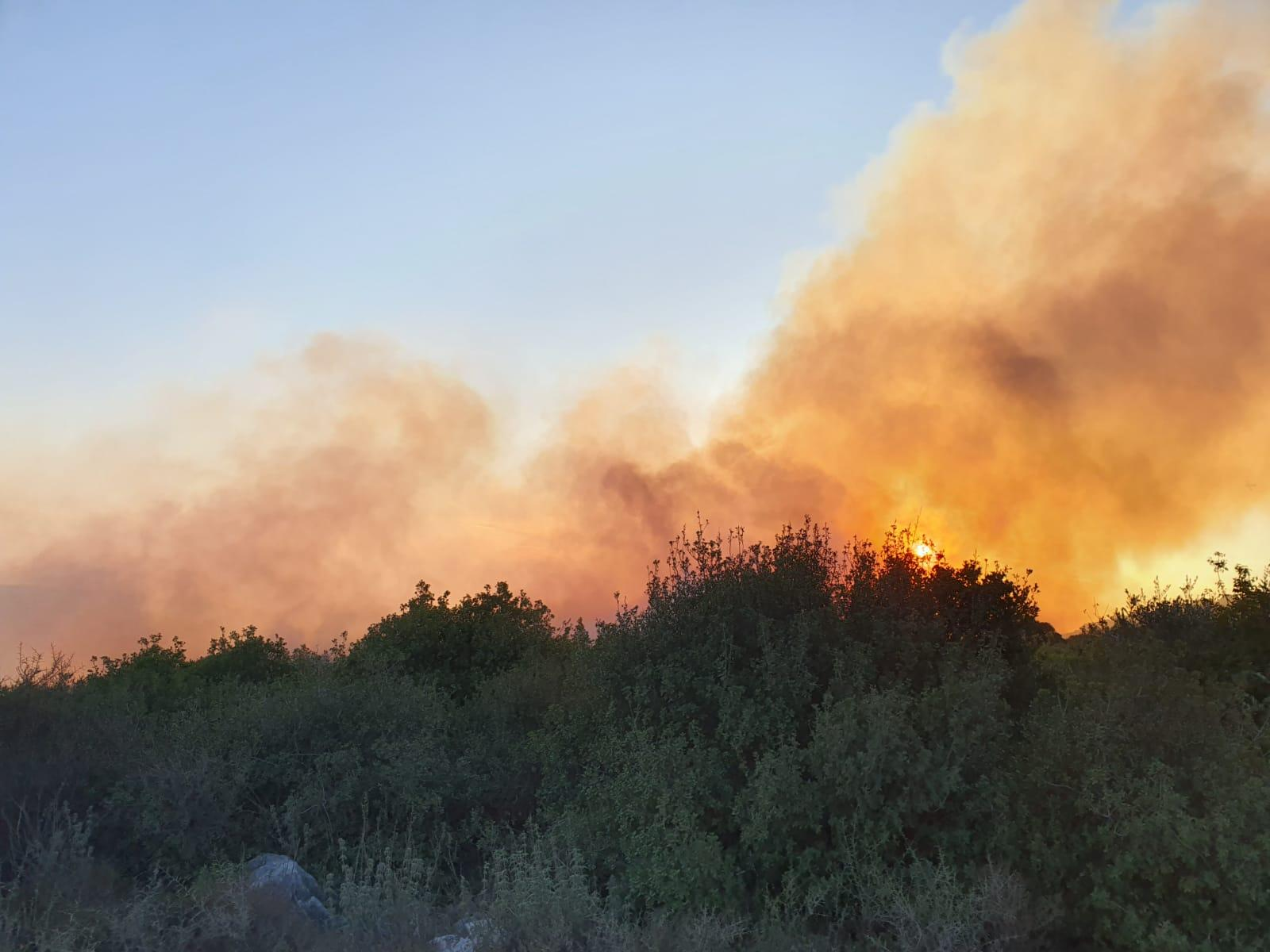 حريق هائل وإغلاق شارع في منطقة الشاغور
