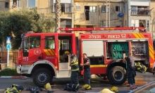 حريق في بناية سكنية بعكا وانفجار بنهريا