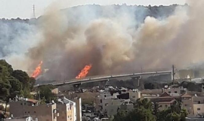 حريقان في وادي عارة وقرب الفريديس