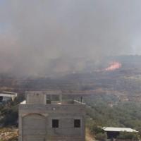 إخلاء منازل ومدرسة إثر حريق في دير حنا