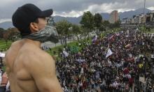 مئات آلاف المتظاهرين يهتفون ضد الرئيس الكولومبي