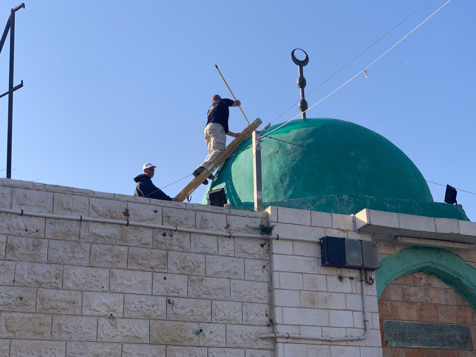 اللد: معسكر الرباط التطوعي ينجز أعماله لحماية المقدسات