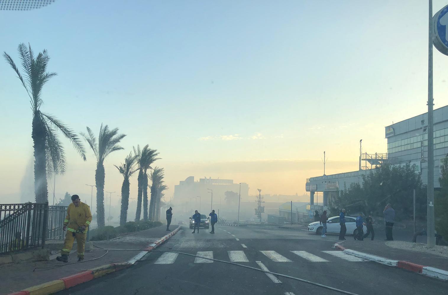 حريق هائل في منطقة الناصرة