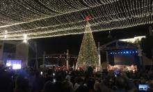 بيت لحم تحتفي بإضاءة شجرة الميلاد