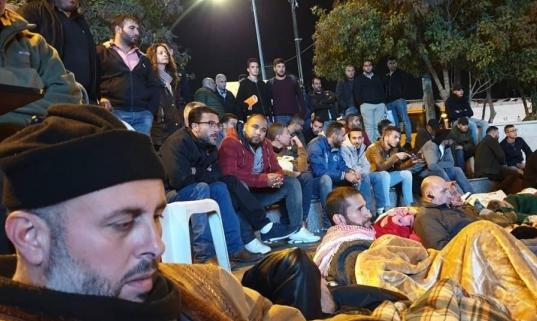 الأسرى المحررون ينهون اعتصامهم في رام الله