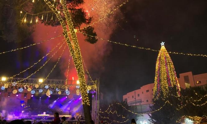 الناصرة تستقبل الميلاد بالاحتفال بإضاءة الشجرة مساء اليوم