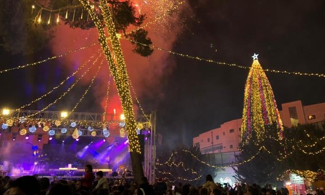الاحتفال بإضاءة شجرة الميلاد في مدينة البشارة، النّاصرة