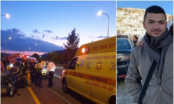 مجد الكروم: مصرع مؤمن محمد سرحان في حادث طرق