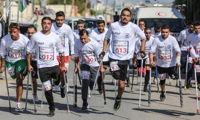 """""""أنا أستطيع"""": سباق عدو لذوي الاحتياجات الخاصة في غزة"""