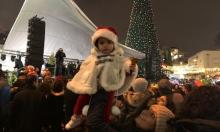 الناصرة تحتفل بإضاءة شجرة الميلاد الأكبر في البلاد