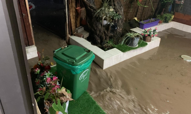 عرابة: مياه الأمطار والصرف الصحي تتدفق لمنزل مأهول