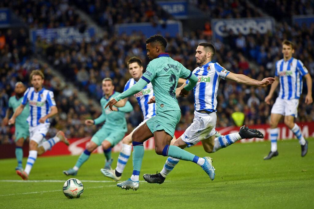 قبل الكلاسيكو: برشلونة يقع بفخ التعادل أمام سوسييداد