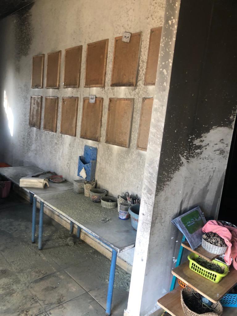 إحراق روضة وبستان أطفال في أم بطين