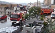حريق هائل في كراج للسيارات بدبورية