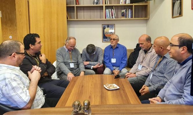 أبو شحادة يلتقي لجنة التضامن الفرنسية مع الشعب الفلسطيني