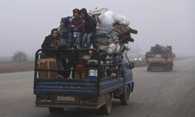 """""""60 ألف طفل سوري ينزحون هربا من القتال شمال غربي سورية"""""""
