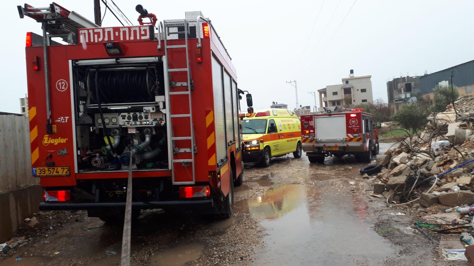 كفر قاسم: إصابات في حريق هائل