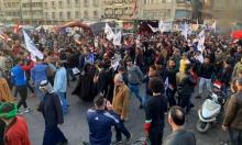 تظاهرات ضد استهداف الحشد وبغداد تلوح بمراجعة العلاقة مع واشنطن