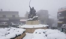 تساقط الثلوج في الجولان السوري المحتل