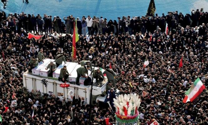 إيران تشيع سليماني وتلوح بضرب إسرائيل