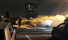احتراق عدة سيارات في حيفا