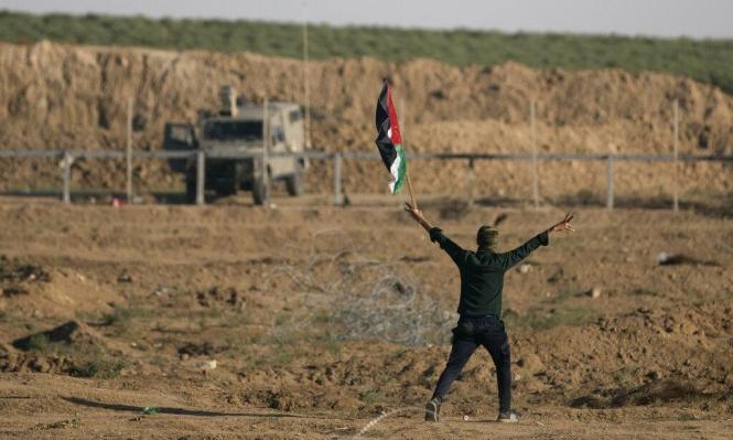 غزة: الاحتلال يغرق الأراضي الزراعية ويطلق النار على شبان