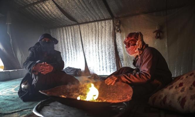 سورية: مخيم سرمدا يرزح تحت البرد والجوع القصف