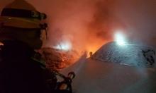 حيفا: حريق في معرض لبيع السيارات