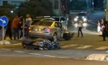 إصابة راكب دراجة نارية نتيجة حادث طرق في يافة الناصرة