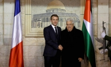 """عباس يستقبل ماكرون ويؤكد على """"أهمية الدور الفرنسي لإنقاذ عملية السلام"""""""
