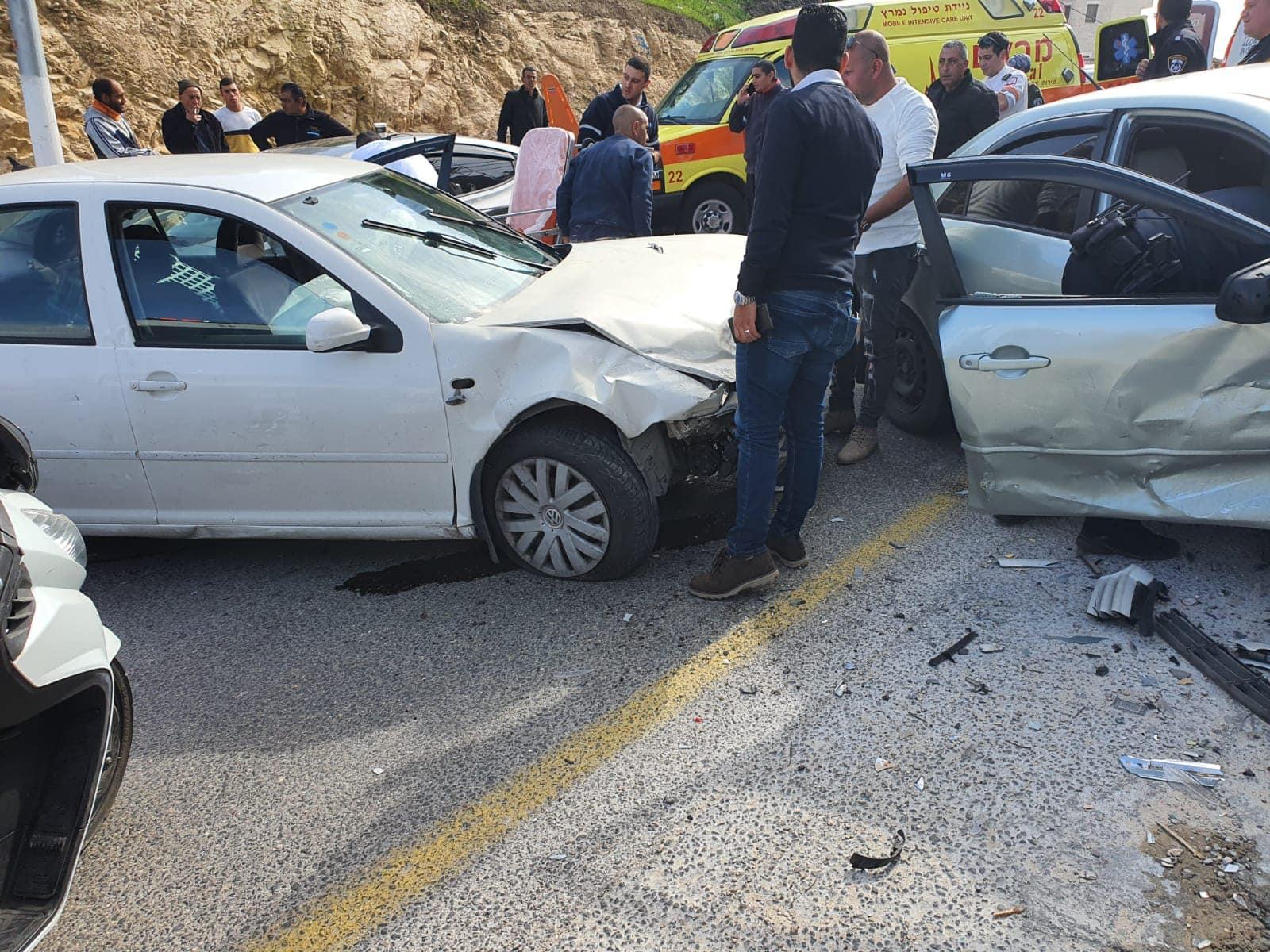 إصابتان في حادث طرق بعد مطاردة بوليسية بالناصرة