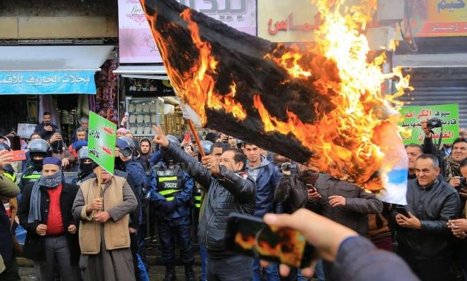 """الآلاف يتظاهرون في عمان ضد """"صفقة القرن"""""""