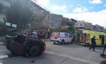 إصابة شاب وفتاة إثر انقلاب دباب في الشبلي