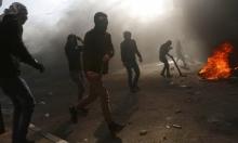 مواجهات في مدينة البيرة وإصابات برصاص الاحتلال المطاطي
